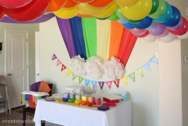 украшение детского дня рождения стола фото