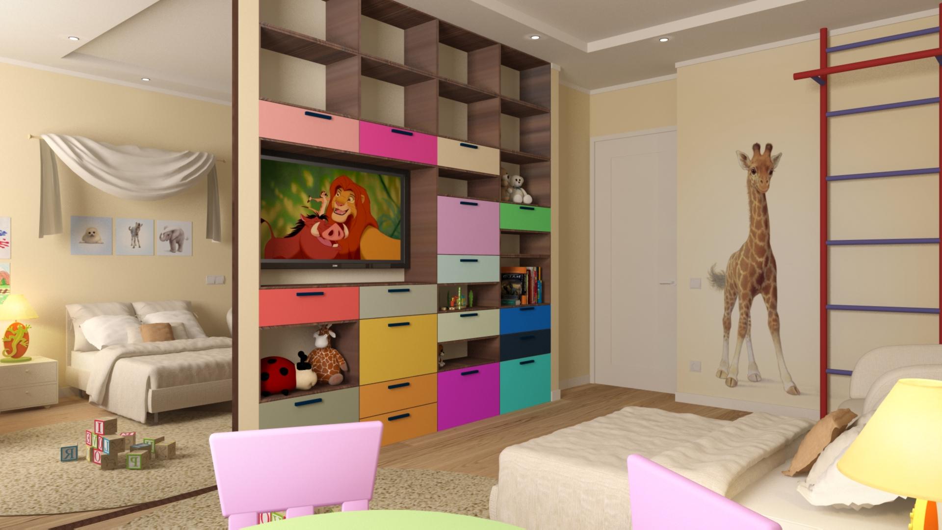 Дизайн детской спальни 18 метров