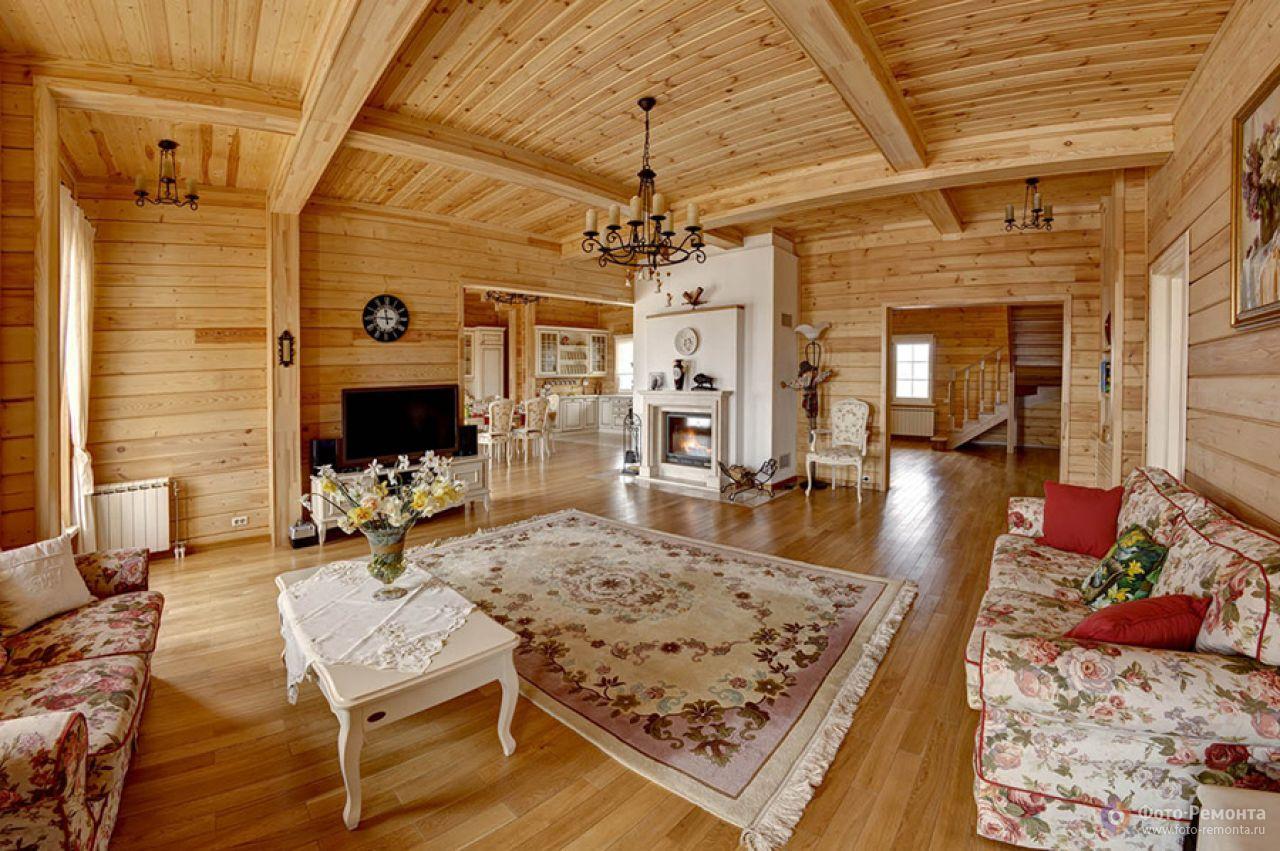 Внутренний дизайн в деревянном доме