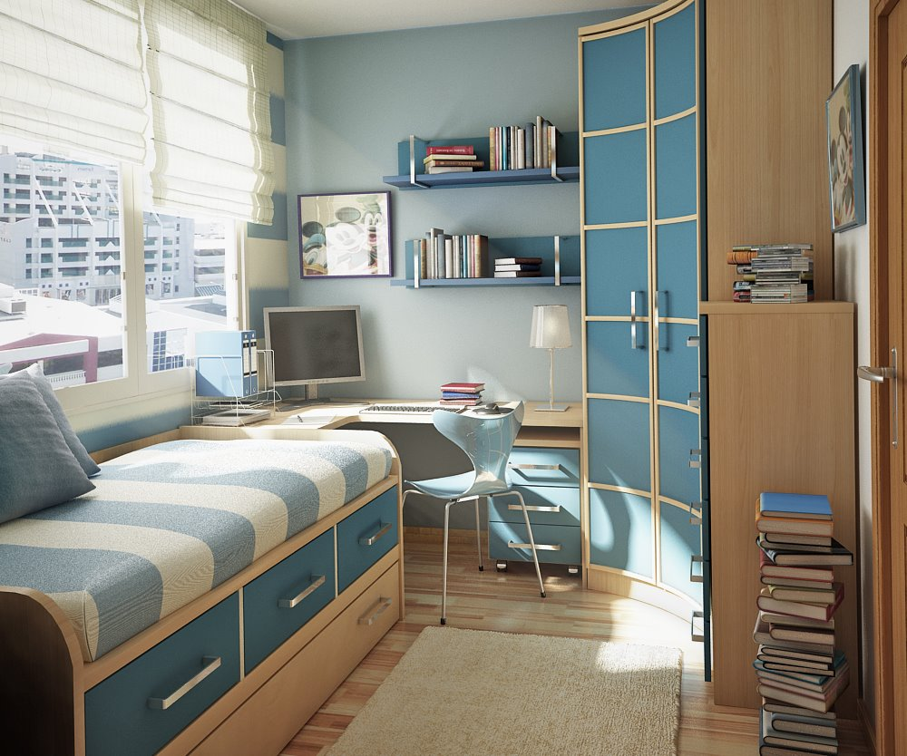 Дизайн маленькой детской комнаты для мальчиков