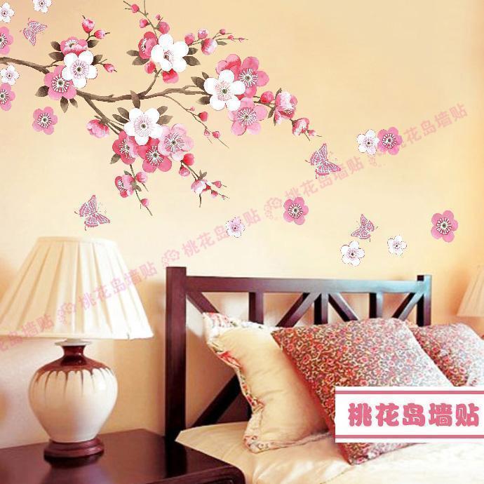 Рисунок на стене в виде цветка