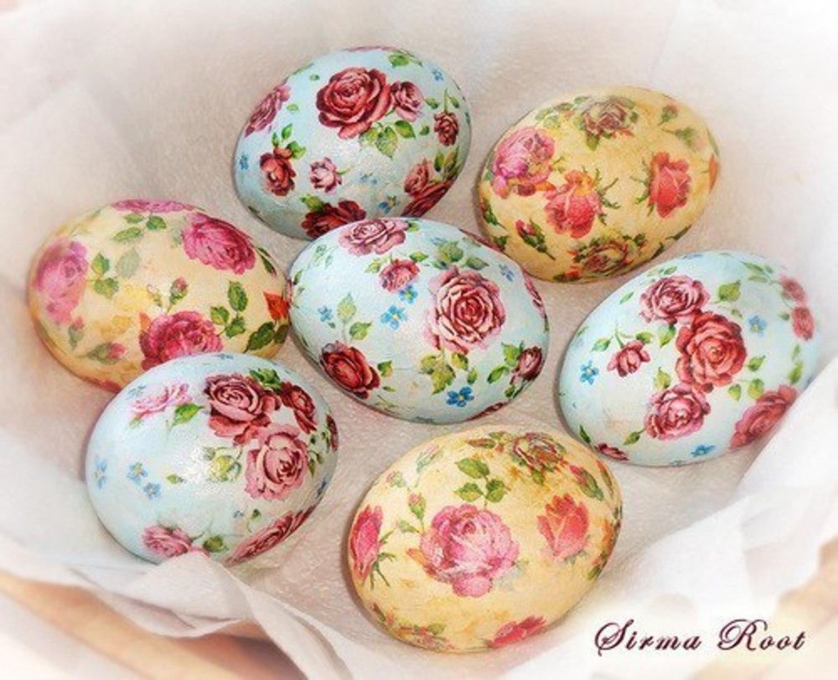 Декупаж яиц к пасхе своими руками