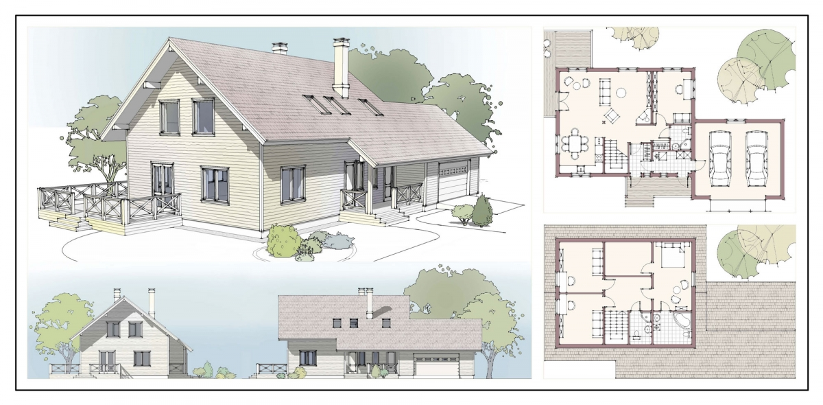 Как сделать архитектурный проект дома самому