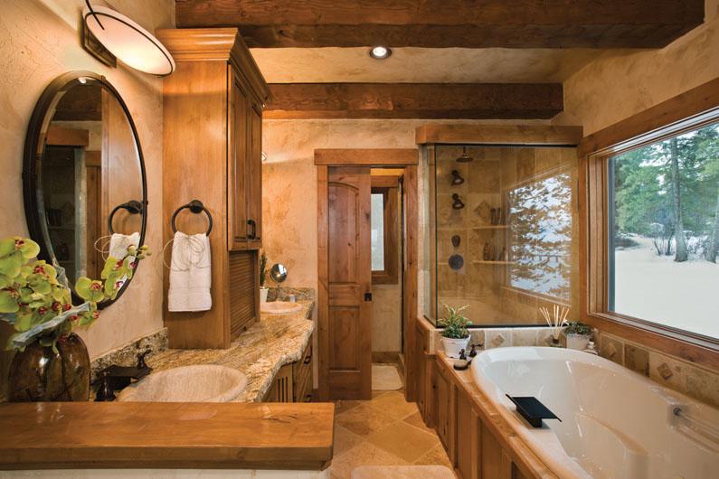 Дизайн комнат в доме бане из бруса