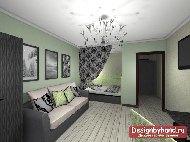 Дизайн комнаты спальни гостиной