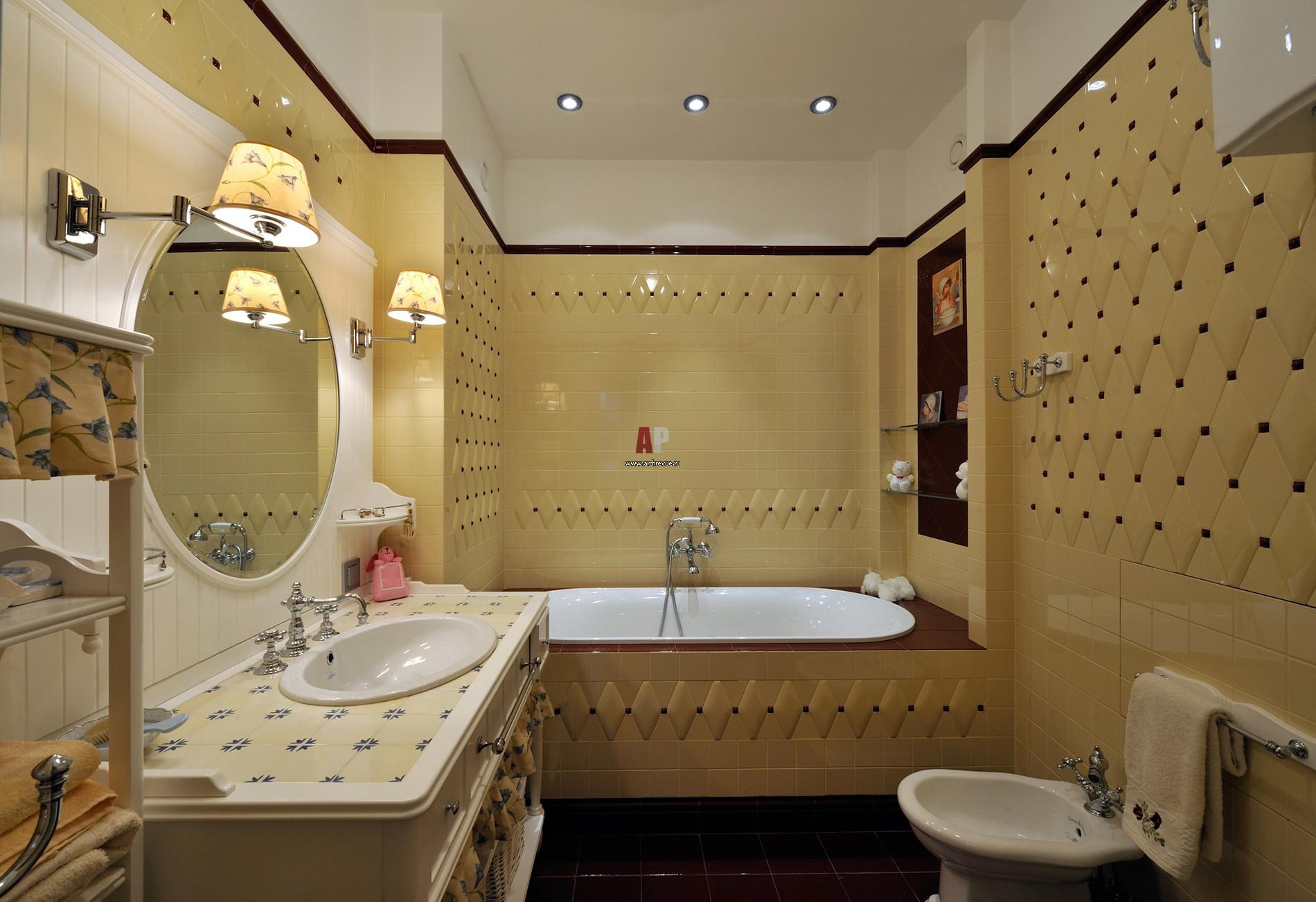Дизайн интерьера ванны в классическом стиле