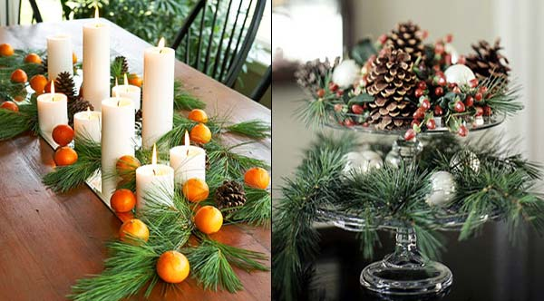 Украшаем стол на новый год своими руками фото