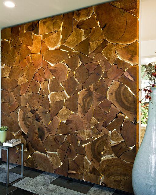 Декор древесными спилами