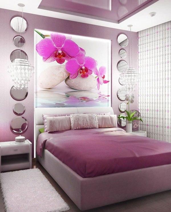 Фото дизайна спален собоями