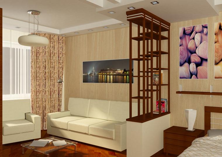 Дизайн однокомнатной квартиры недорого