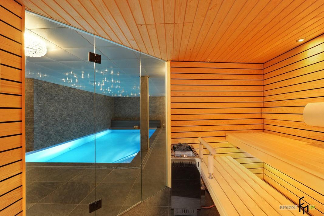 Дизайн бассейнов с сауной