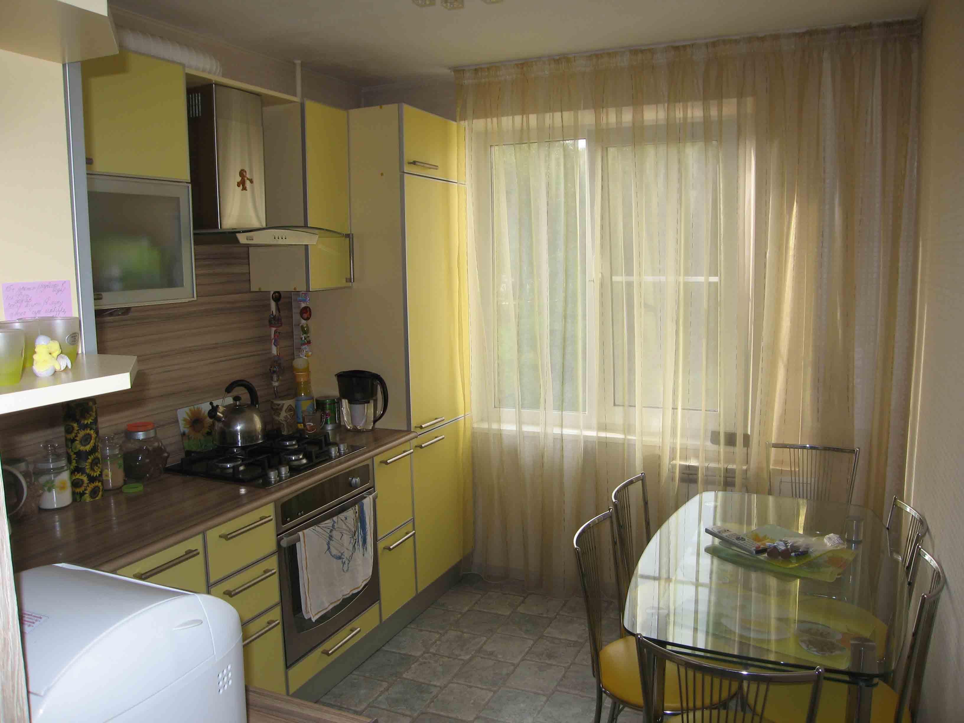 """Дизайн кухни в двухкомнатной квартире фото """" современный диз."""