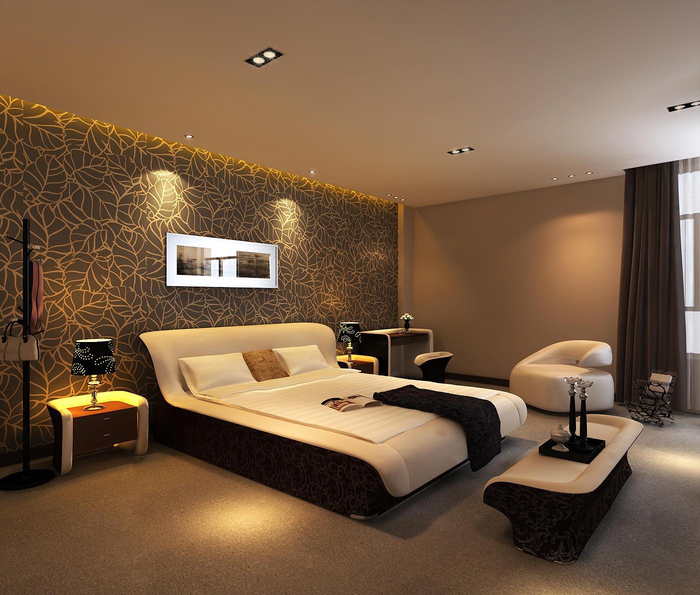 Дизайн и интерьер спальни собоями