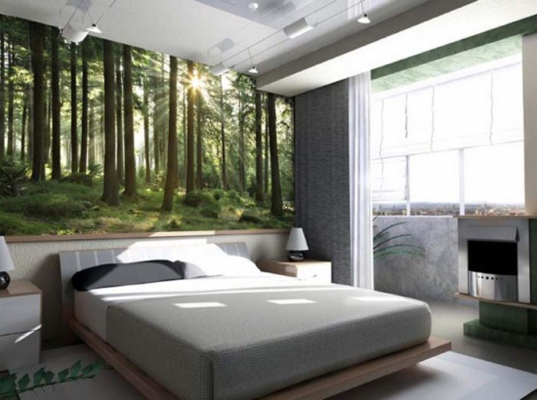 Спальня дизайн природы