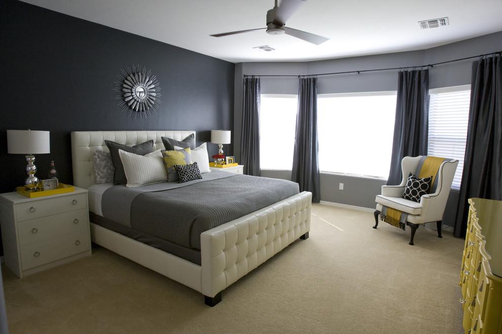 Серая спальня в интерьере фото