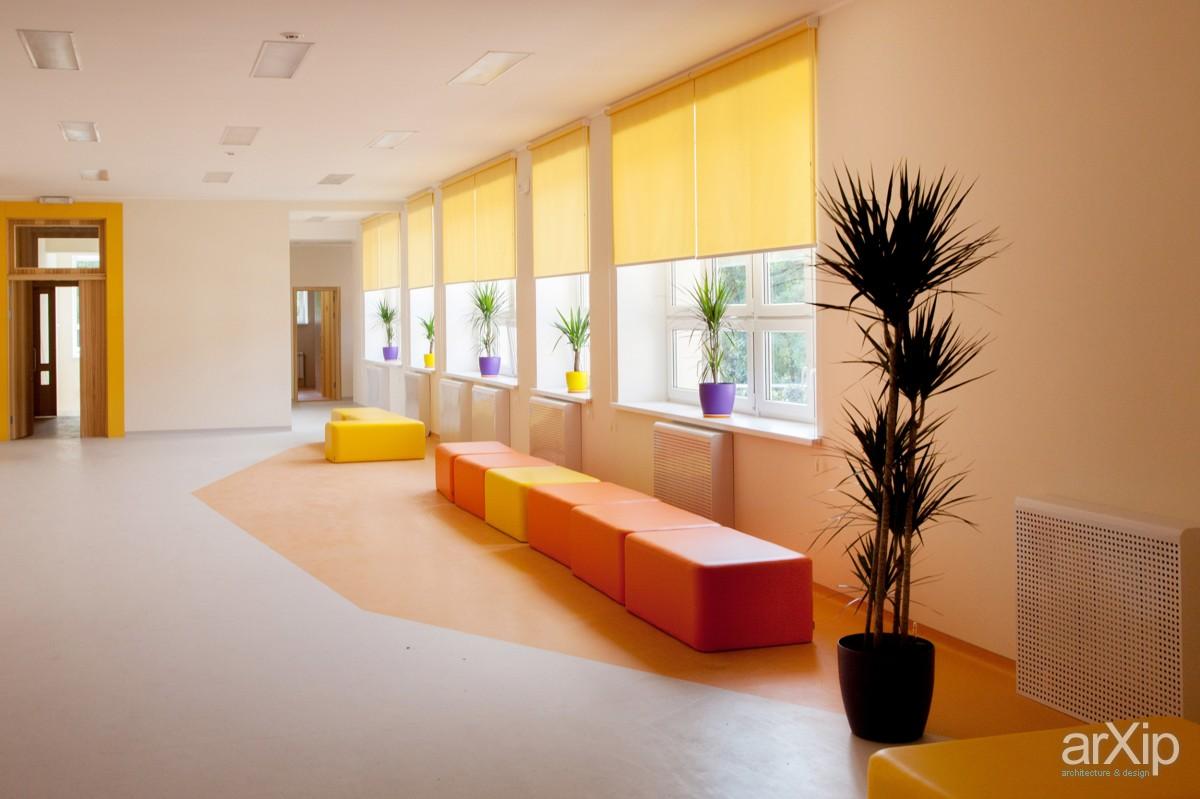 Ландшафтный дизайн школьного двора 16
