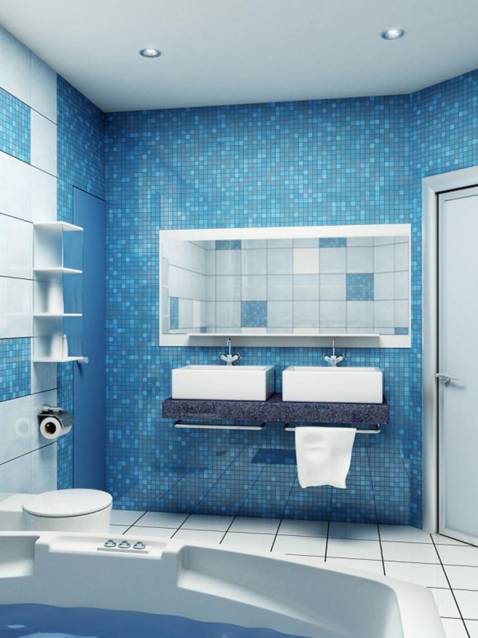 Маленькая ванная комната с мозаикой дизайн 2017