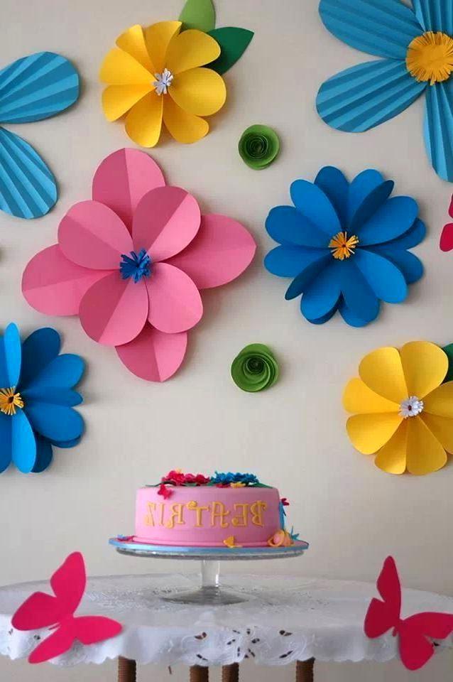 Украшения для комнаты на день рождения из бумаги