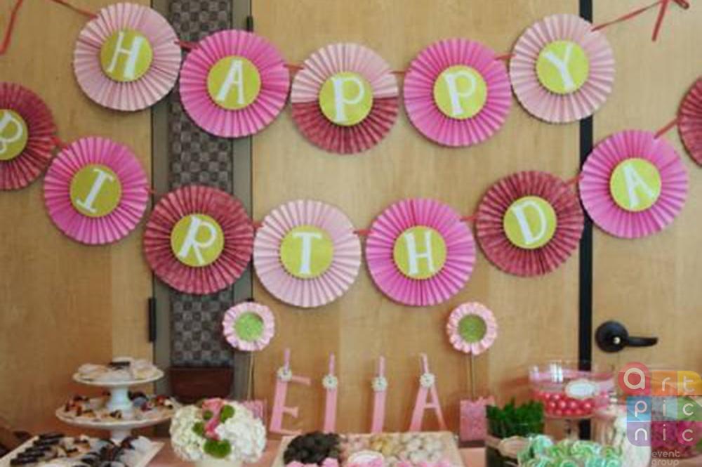 Украшение зала к дню рождения своими руками