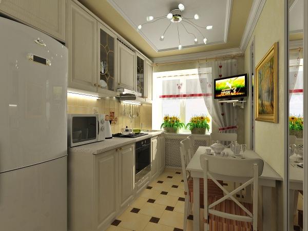 """Дизайн кухни в панельном доме """" современный дизайн."""