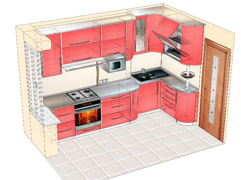 Дизайн кухни для панельного дома