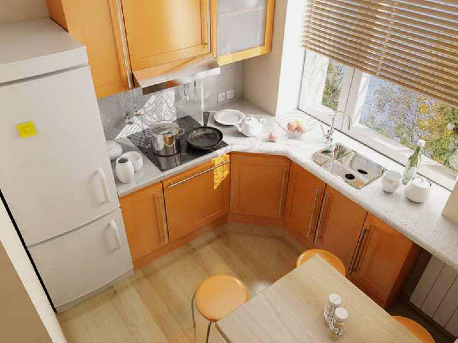 Фото дизайна кухни в хрущевке 5 метров