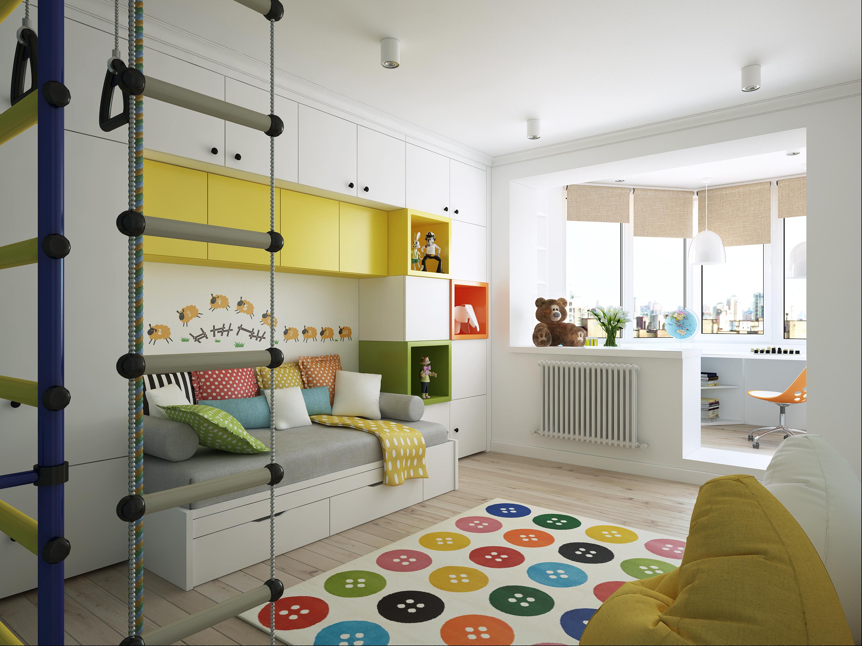 """Дизайн интерьера в детской комнате """" современный дизайн."""