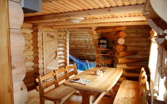 Фото деревянного интерьера бань