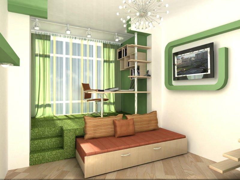 Дизайн комнаты в разных уровнях