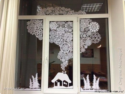 Украшения на новый год своими руками на окна