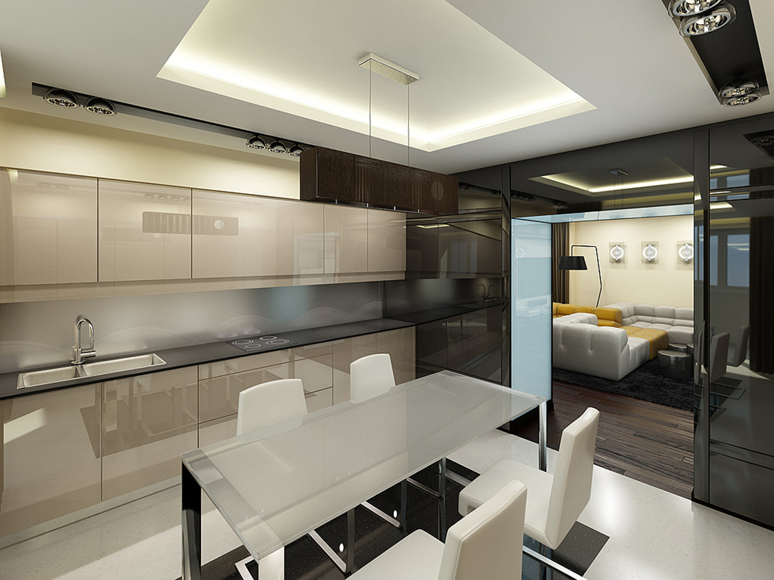 Фото дизайнов квартир в стиле хайтек