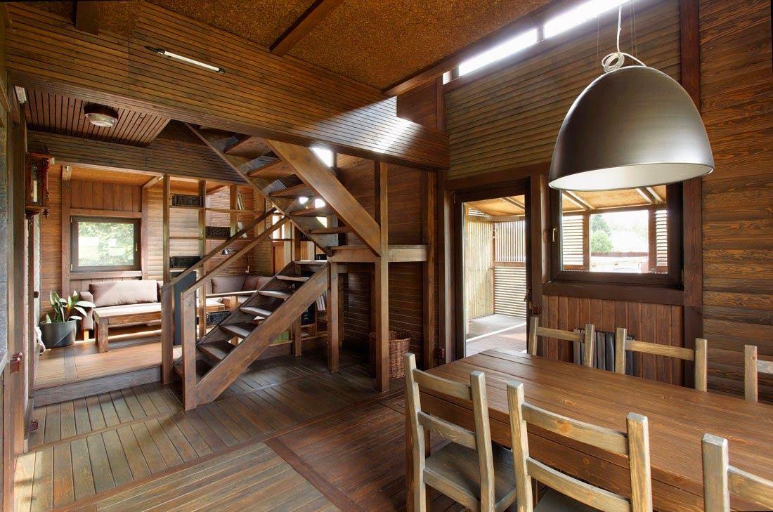 Дизайн интерьера дачного домик