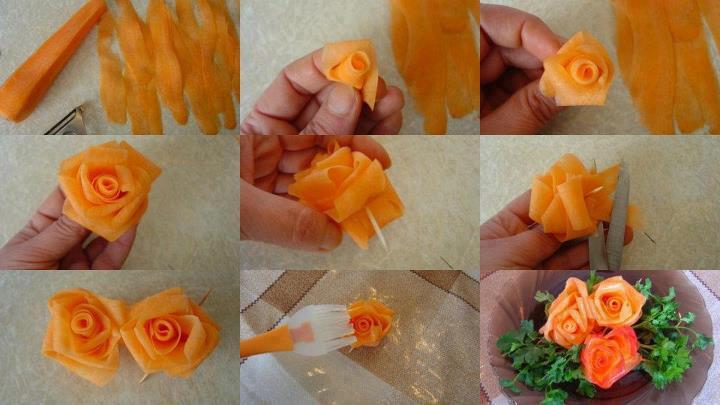 Украшения из овощей  как делать