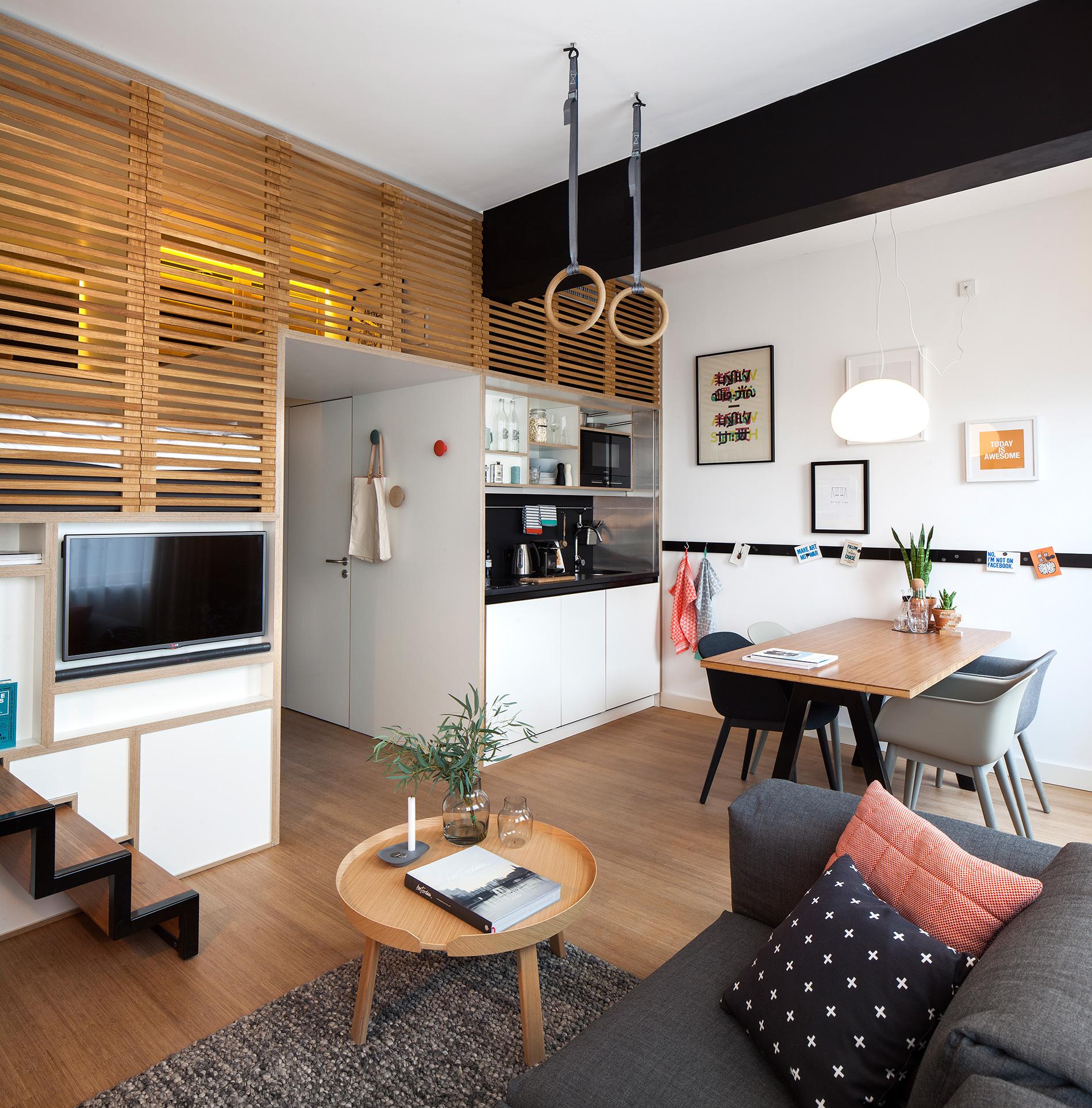 Дизайн комнаты студии 17 квм