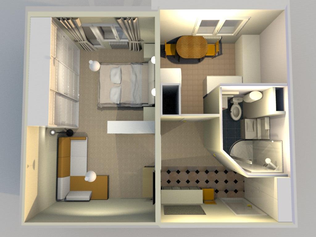 Интерьер однокомнатной квартиры п44т фото