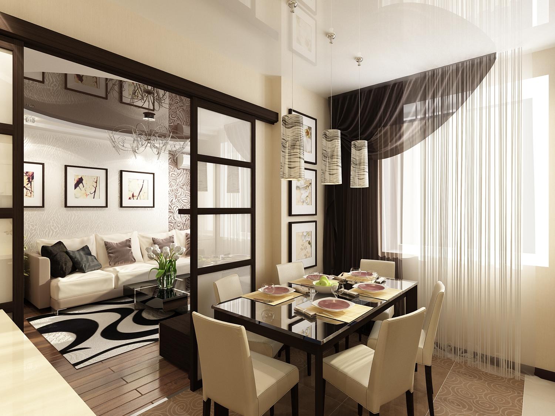 Дизайн кухни с совмещенной гостиной 2017.