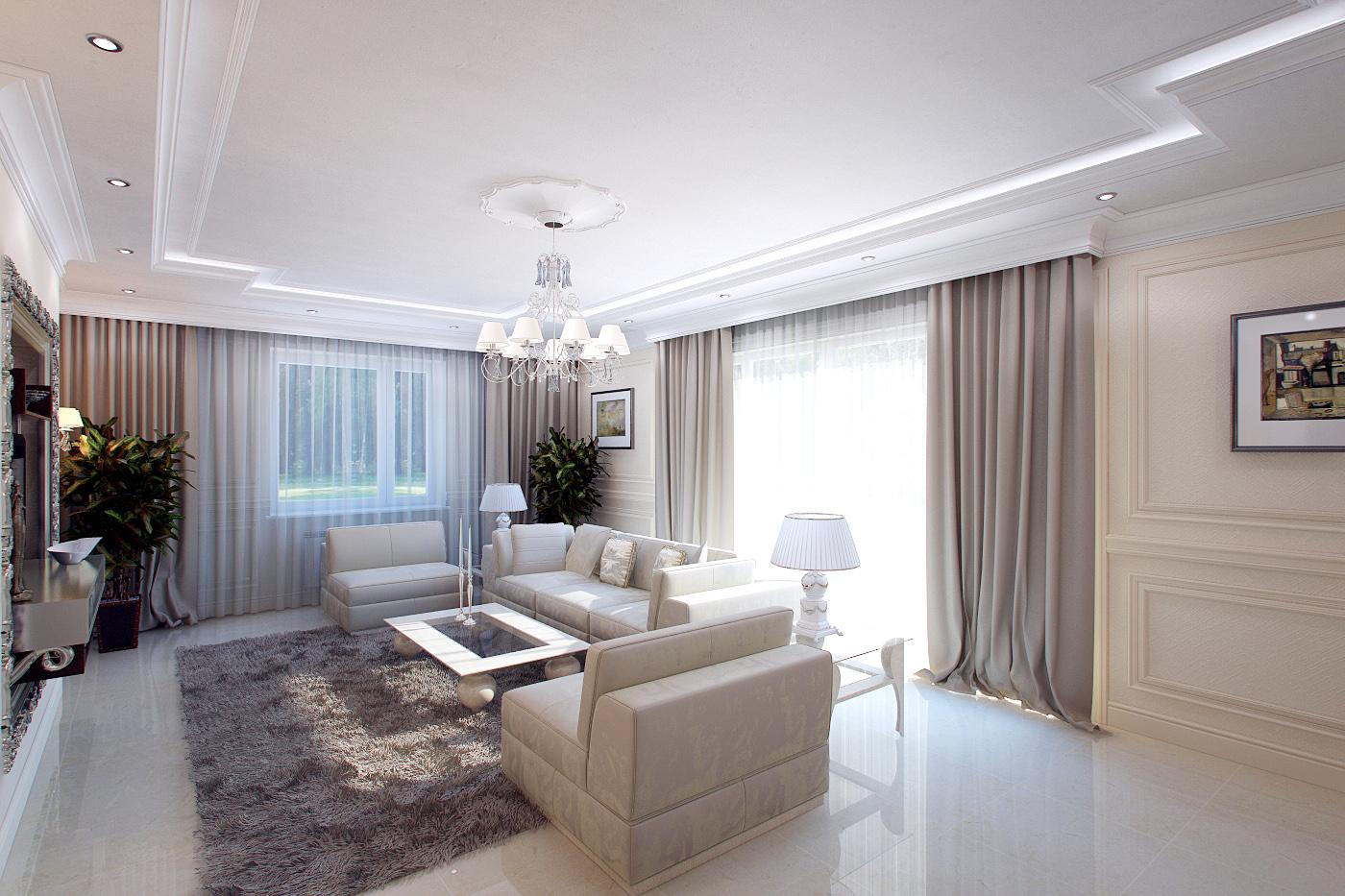 Интерьер гостиной просто и со вкусом: классический стиль все.