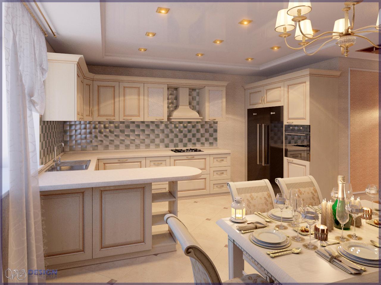 Дизайн кухни в доме 15 кв.м