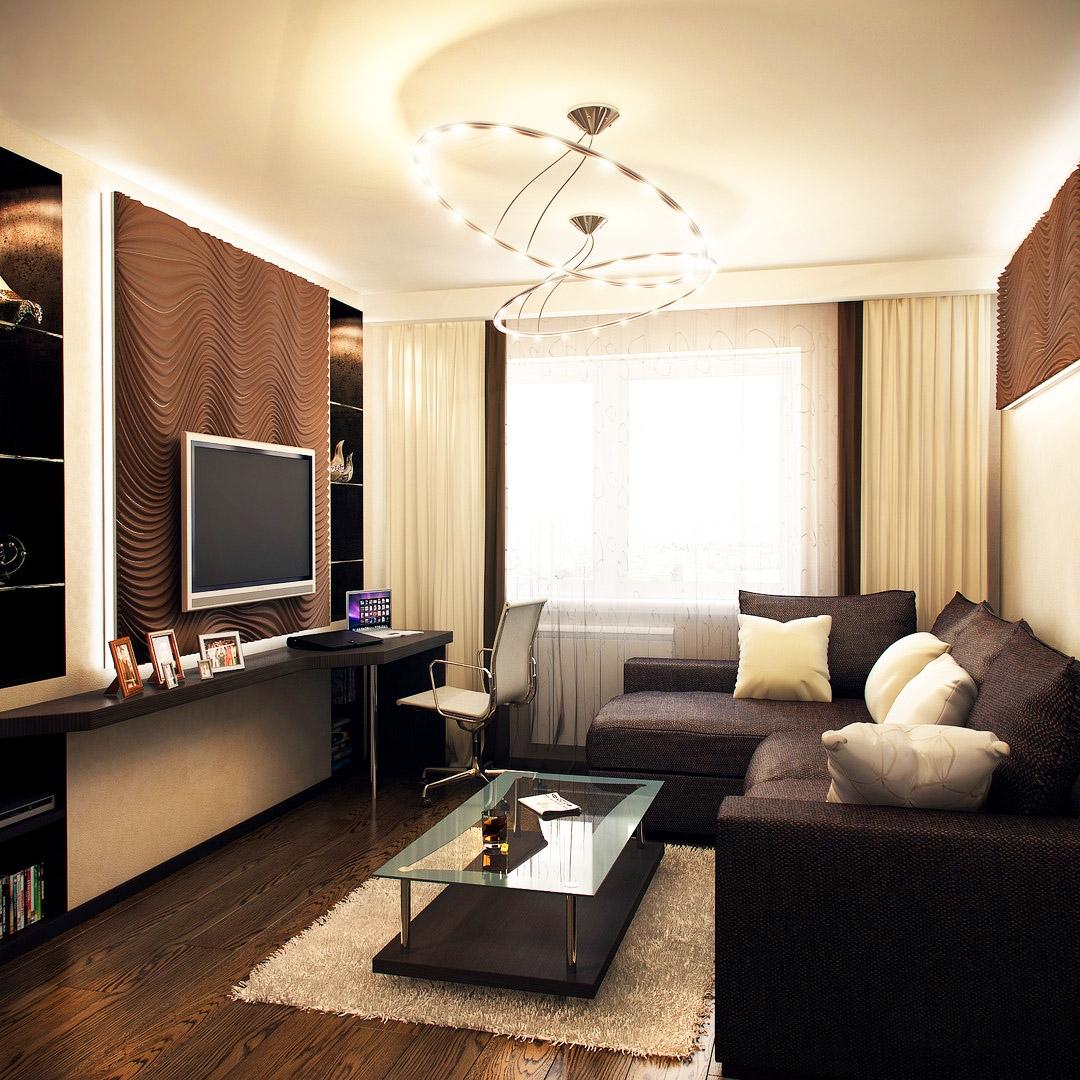 Маленький зал дизайн в квартире