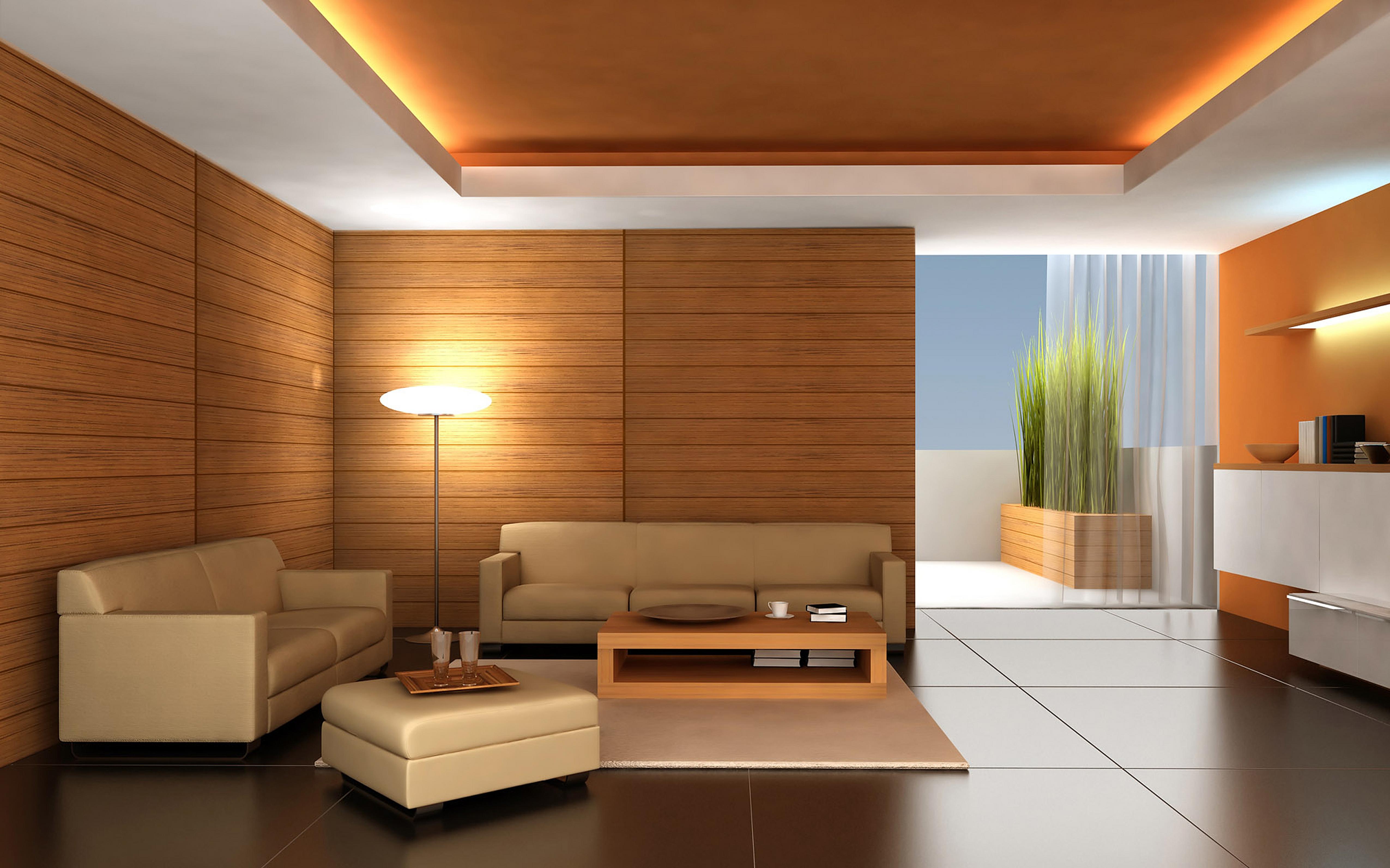 Современный интерьер гостиной потолки