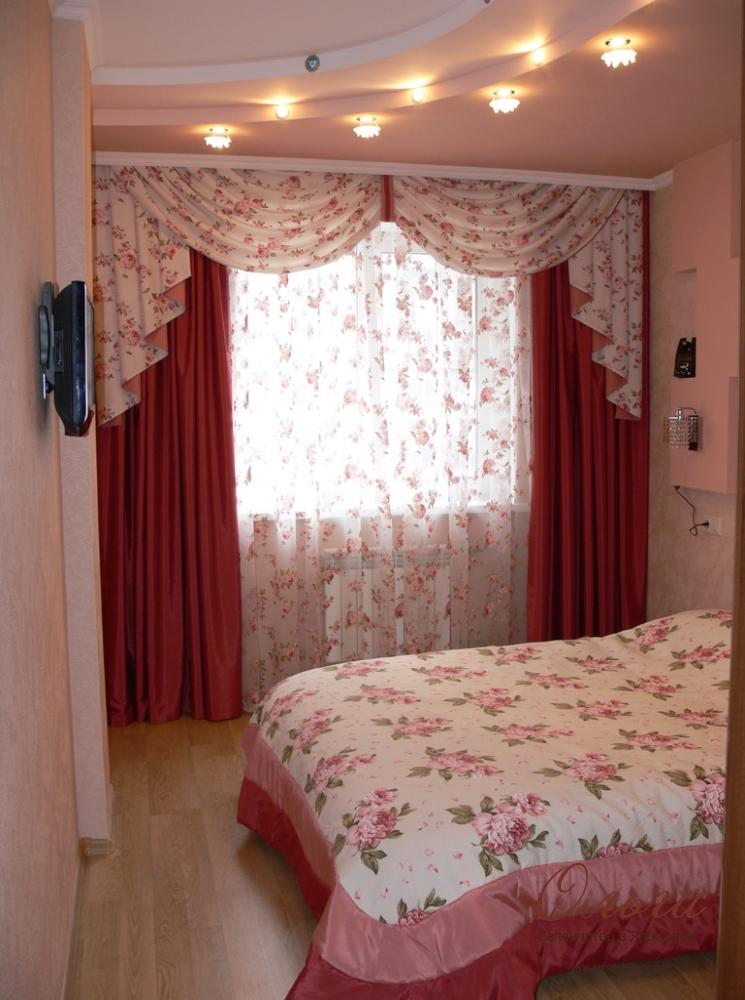 Простые идеи штор для спальни фото