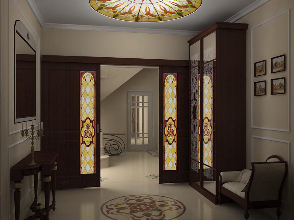 Красивый дизайн прихожей в доме