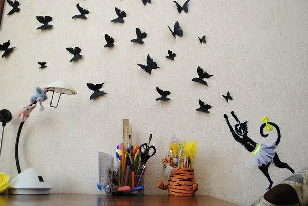 Бабочки для стен своими руками