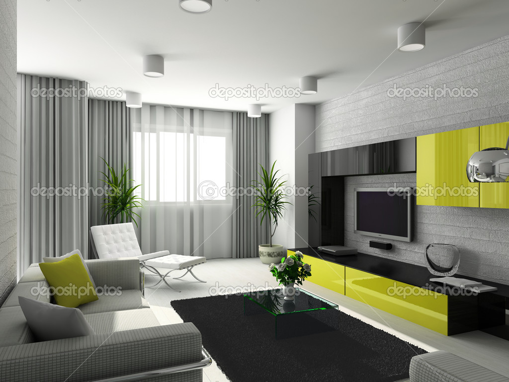 Дизайн гостиной с двумя дверьми