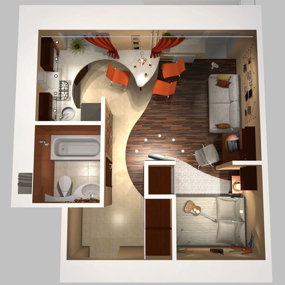 Идеи дизайна квартир с планировками
