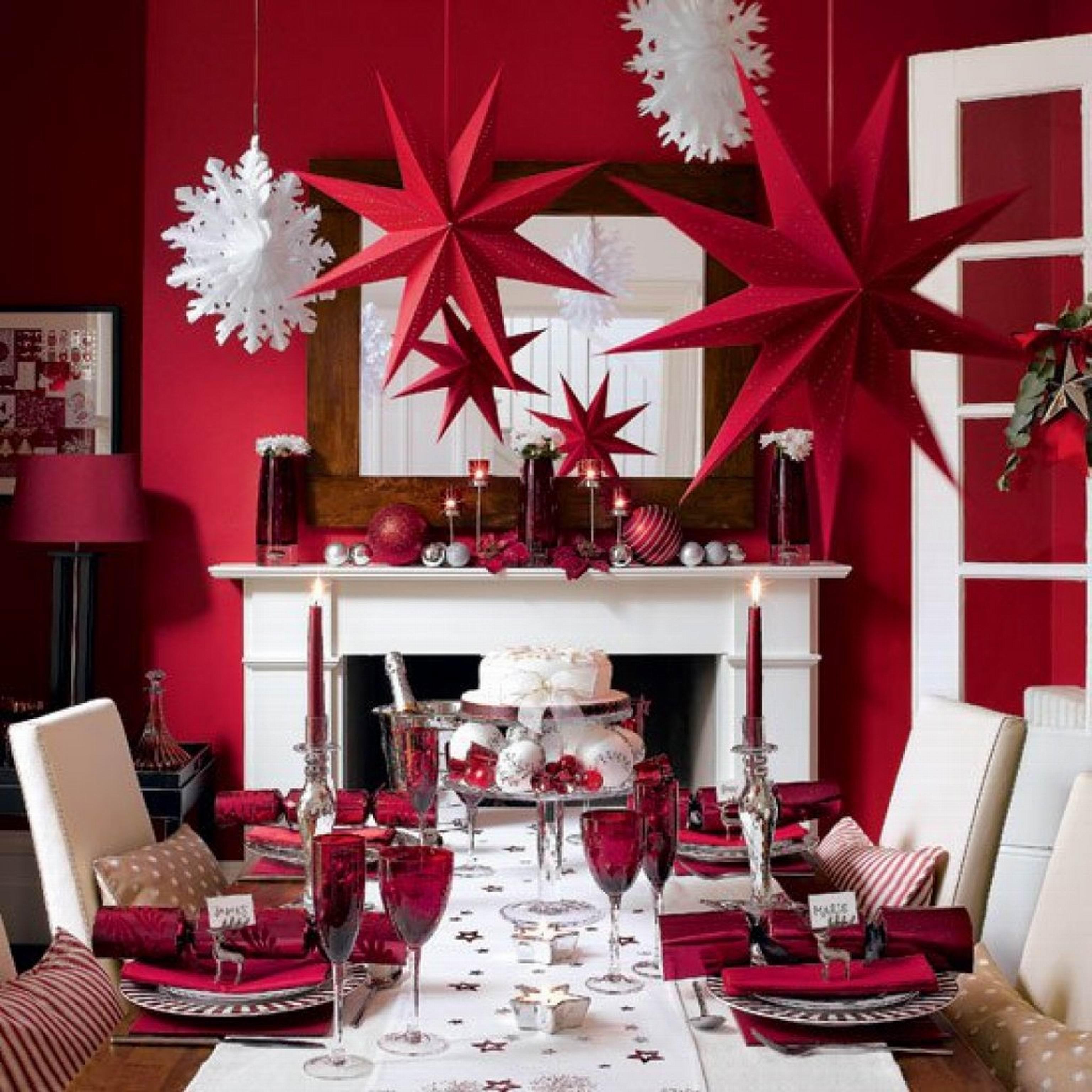 Как украсить дом на новый год своими руками из мишуры