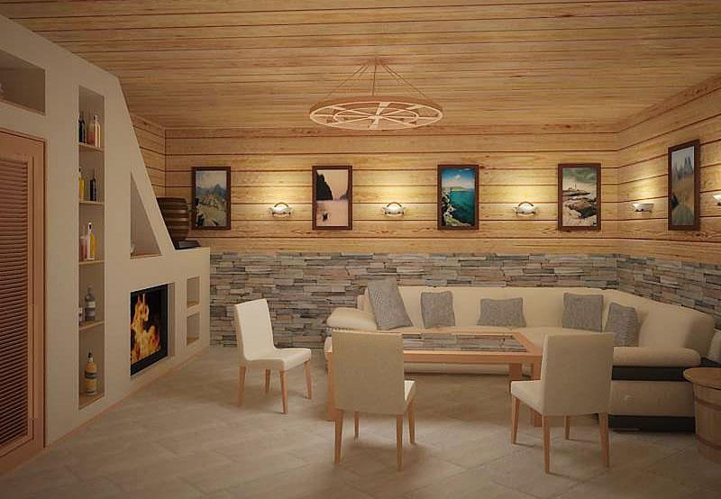 Интерьер сауна комната отдыха дизайн