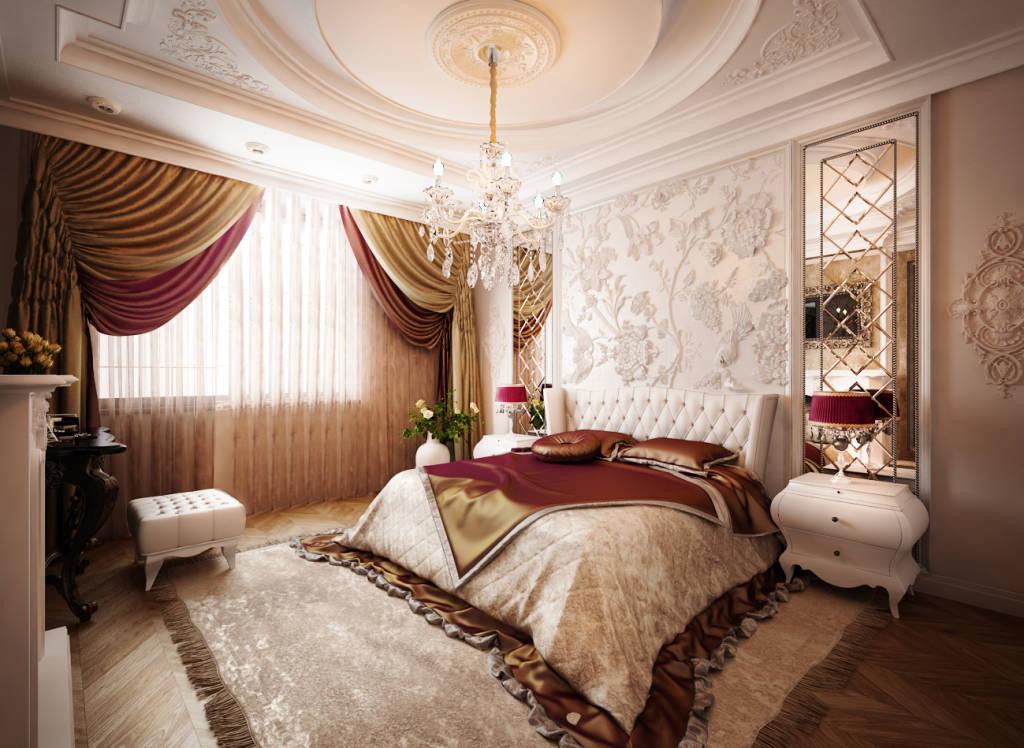 Дизайн квартир спальня классика
