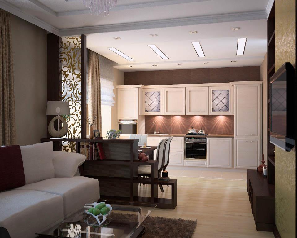 Гостиная кухня 18 метров дизайн