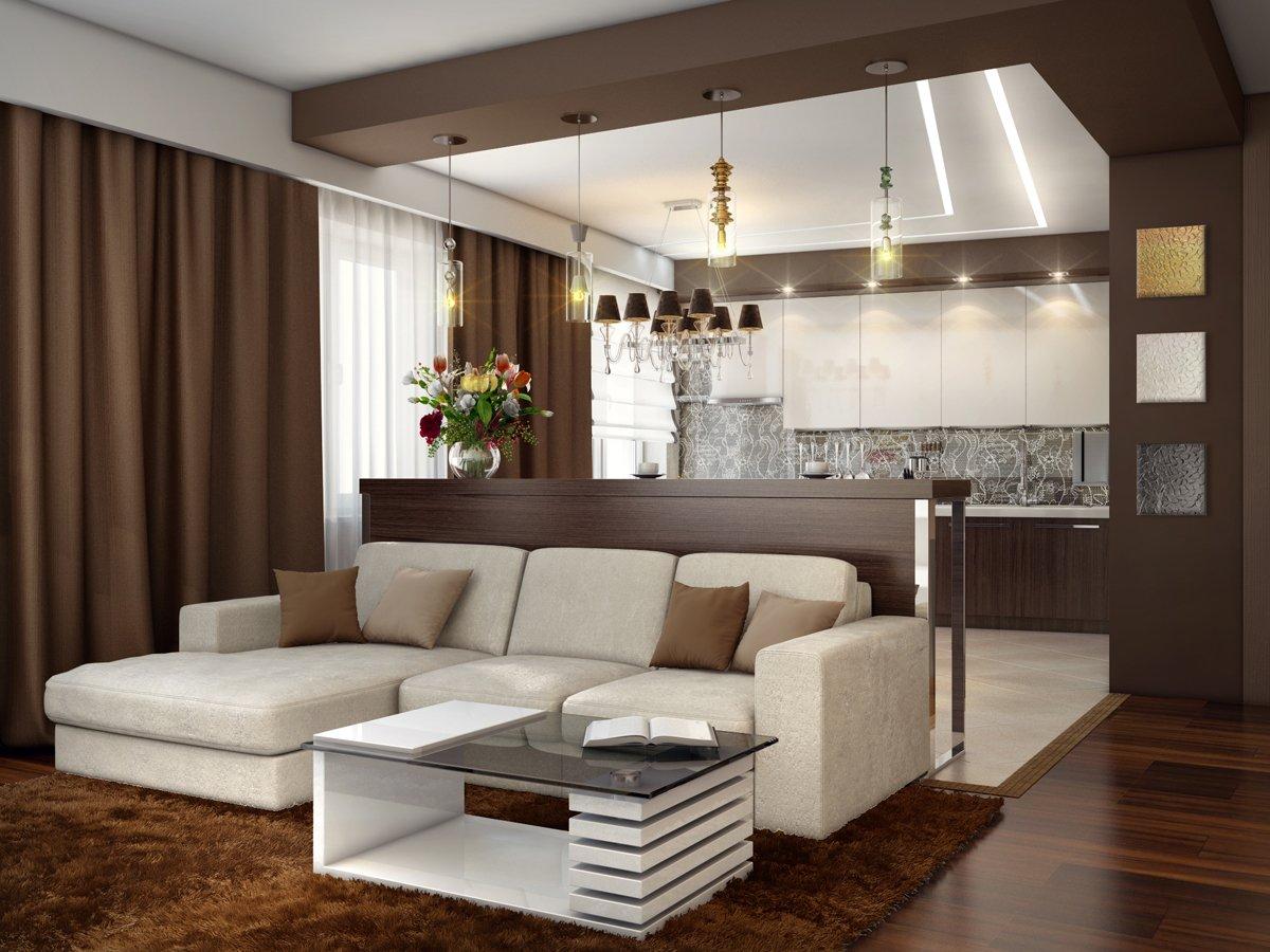 Дизайн квартиры кухня гостиная